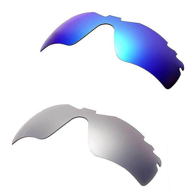 b47aae10fb Amazon.com  Hkuco Plus Mens Replacement Lenses For Oakley Radar Path-Vented  Blue Titanium Sunglasses  Clothing