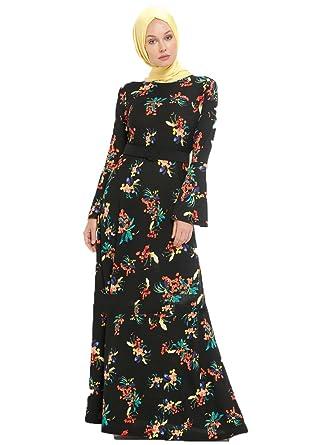 c5028fa20c627 Tavin Black - Multi - Crew Neck - Unlined - Dresses (l): Amazon.co.uk:  Clothing