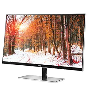 AOC i2777fq 27-Inch Class IPS LED Monitor, Bezel-less, Full HD, 5ms, 50M:1 DCR,VGA/(2) HDMI,MHL/DP,VESA, Spk