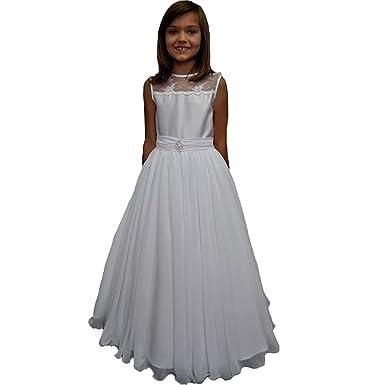VIPbridal Vestido de la comunión de la gasa de una línea de ...