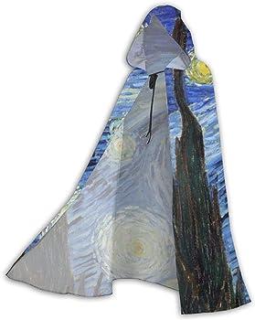 UTTREND20 Van Gogh - Capa de Noche Estrellada con Capucha para ...