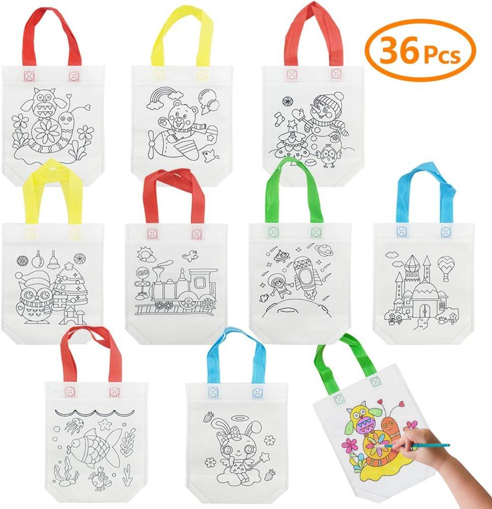Fun Express Little Artist Paint Palette Tote Party Favor Bags 24 Count
