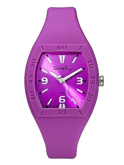 Smarty Big SW101L - Reloj de mujer de cuarzo, correa de silicona color rosa: Amazon.es: Relojes