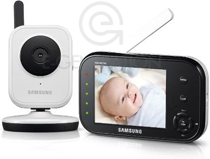 Samsung BabyVIEW SEW-3036W Wireless Video Baby Monitor with Infrared Night Vision and Zoom – 3.5 inch Display