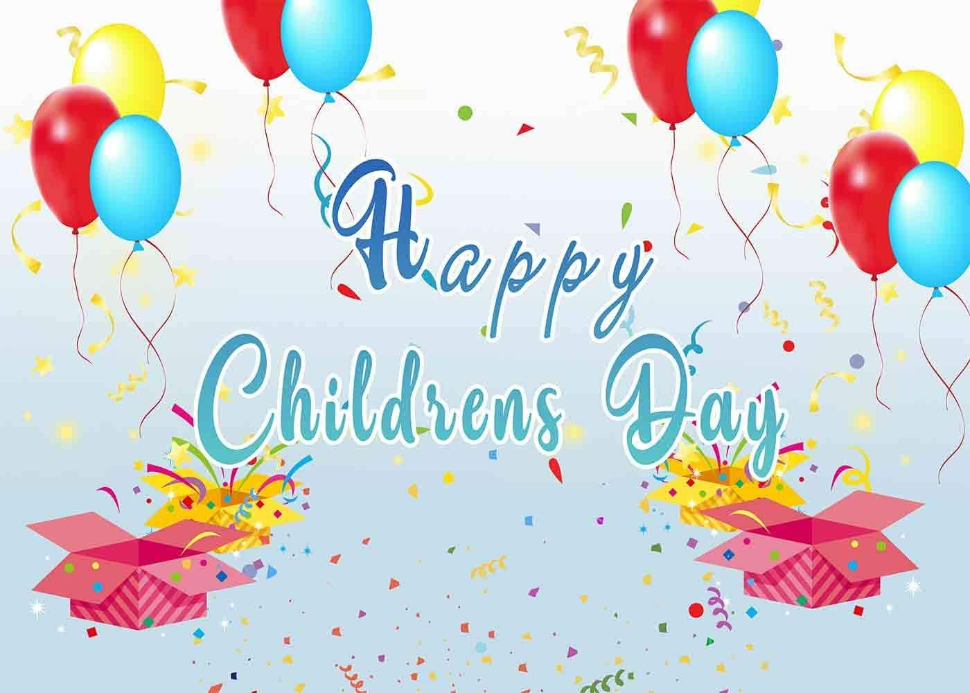 10x8ft Happy Childrens Day Photography Backdrop Customized Background Event Photo Props LHFU283