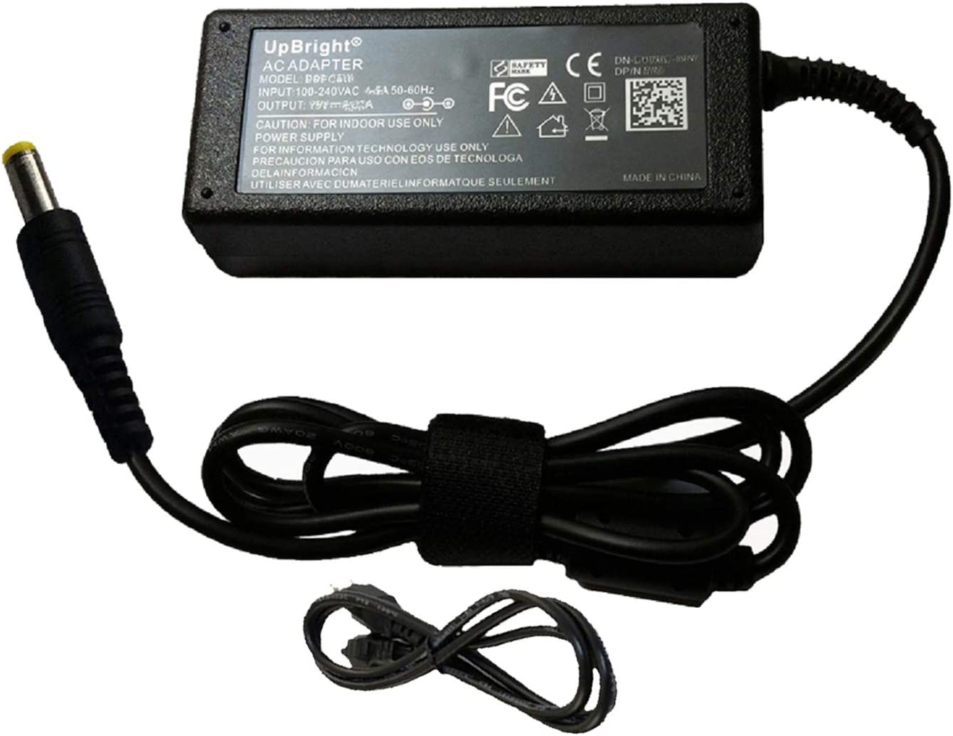 "UpBright 12VDC 12 Volt Output AC/DC Adapter Compatible with HP 2511X XP599A XP599AA#ABA 25"" Widescreen LED LCD Monitor 12V 12.0V DC12V Power Supply Cord Cable Charger Mains PSU (NOT fit 19V Version)"