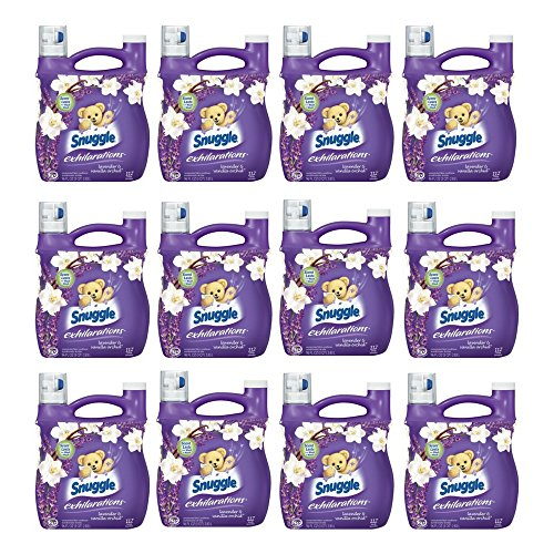 Snuggle Exhilarations Liquid Fabric Softener, White Lavender & Sandalwood Twist, 96 oz (12 pack) by by Snuggle