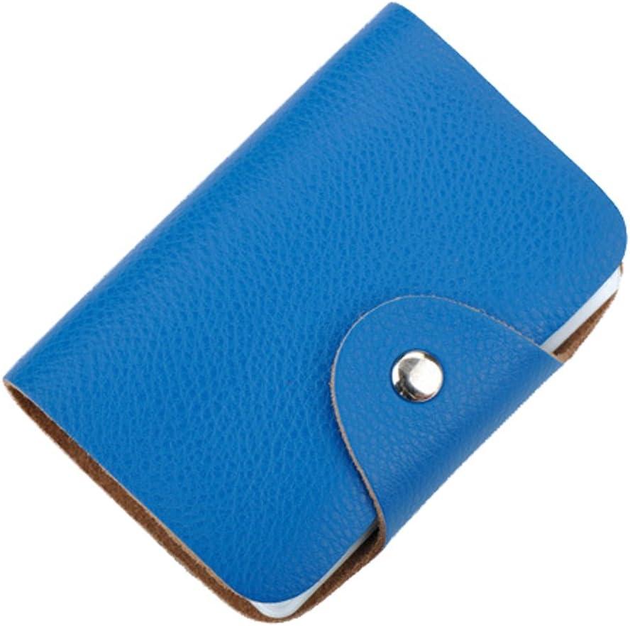 Porte-Cartes de Cr/édit Cuir Doux Porte Carte Femme Homme Bleu