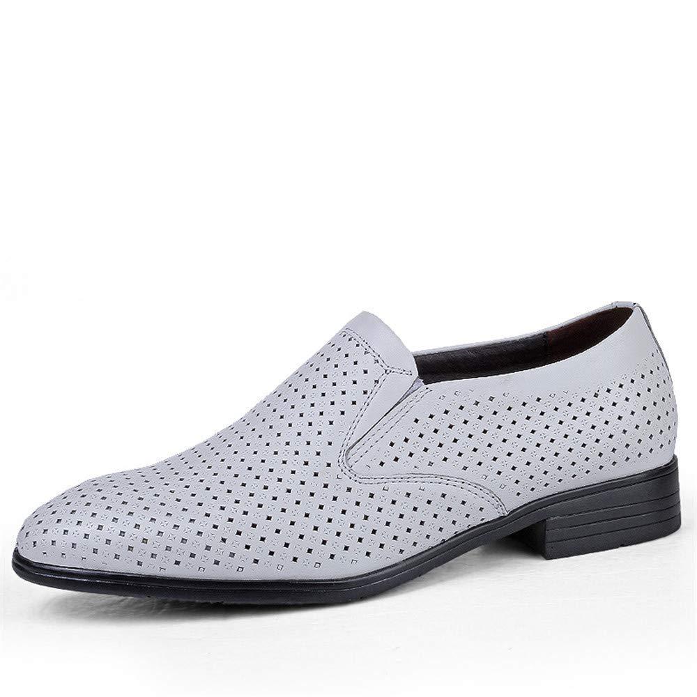 FuweiEncore 2018 Herren Business Oxford Casual Größe des Codes British Leder und ausgehöhlten Formelle Schuhe (Farbe   Hohle Schwarz, Größe   47 EU) (Farbe   Hohles Weiß, Größe   38 EU)