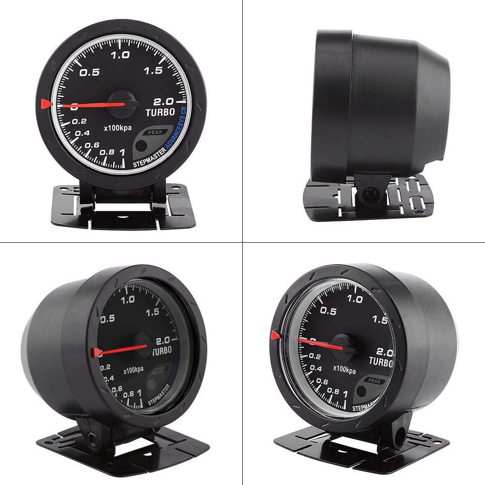 60m m LED Turbo Gauge medidor de impulso, auto aumento de presión de vacío Shell de presión para Auto Racing Car 0-200 Kpa: Amazon.es: Coche y moto