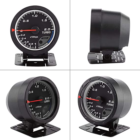 Amazon.com: 60mm LED Turbo Gauge Boost Meter, Car Boost Gauge Vacuum Press Black Shell Universal for Auto Racing Car 0-200 Kpa: Automotive