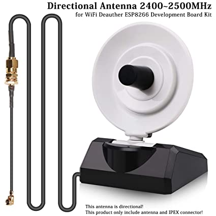 MakerFocus Directional Antenna 2400~2500MHz 10db 2 4G Antenna DSTIKE  Antenna with IPEX Connector, Linear Polarization ESP-07/ESP32-Wrover for  WiFi