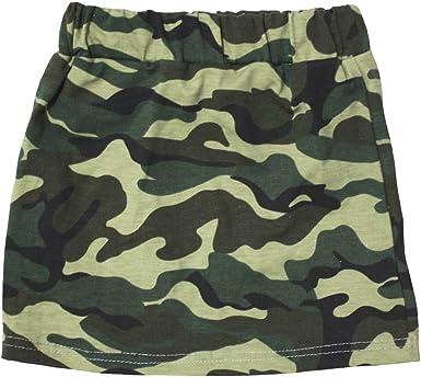 Petitebelle camuflaje verde algodón falda para niña 1 – 8Y: Amazon ...