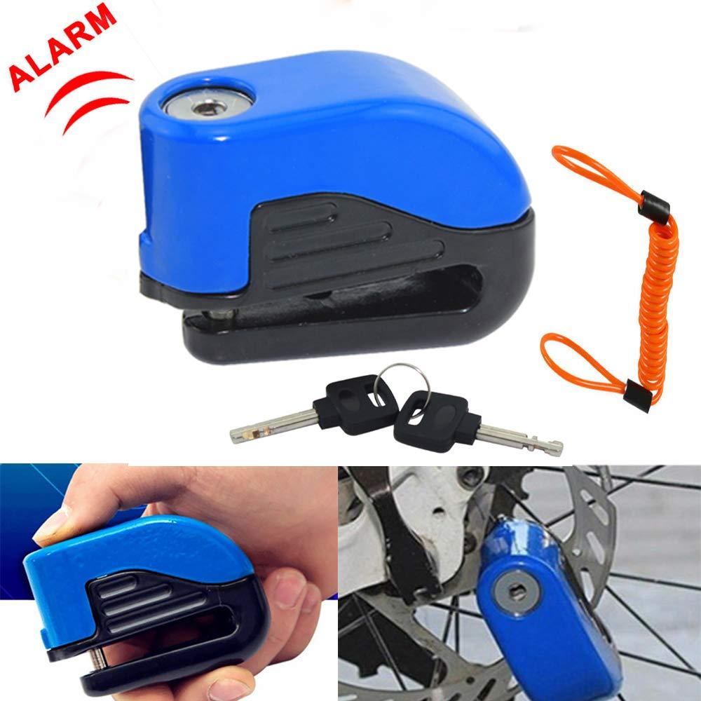 Motorbike Heavy Duty Padlock Anti-Theft Security Lock Set Motorcycle Handlebar Lock Maso Alarm Disc Brake Lock Set D 1.5m Reminder Cable