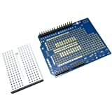 Uno Prototype Shield v5, Expansion Board with Miniature 170 Pt. Breadboard fitted for Arduino and compatible Uno boards, RBTMKR