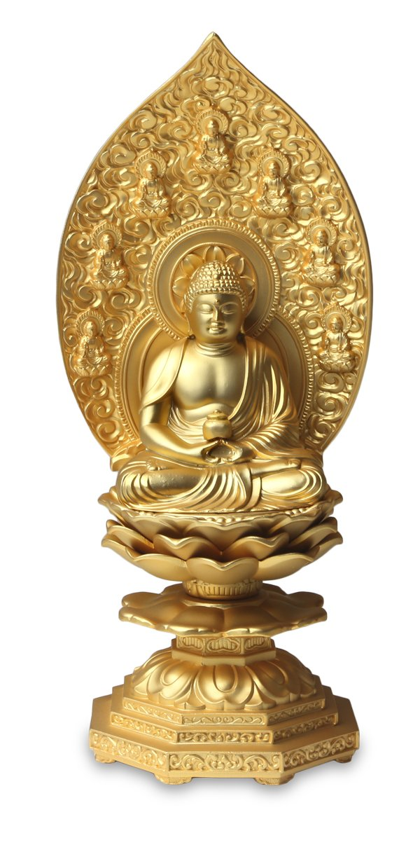 仏像 薬師如来座像 18cm B01N1Z4TI9  - -