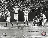 The Boston Red Sox Carlton Fisk 1975 World Series Home Run 8x10 Photo Picture