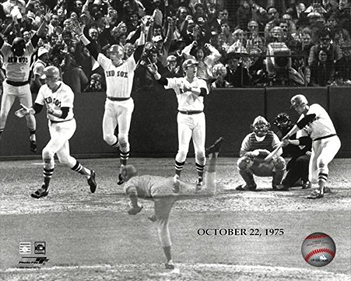 The Boston Red Sox Carlton Fisk 1975 World Series Home Run 8x10 Photo Picture