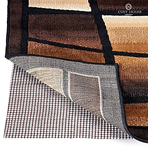 Non-Slip Area Rug Pads by Cosy House - Fully Washable, Best Pad for Firm Hold on Oriental Traditional or Contemporary Rugs & Mats on Hard Surface Floors Like Wood, Tile or Cement (4 x (Clear Plastic Area Rug)