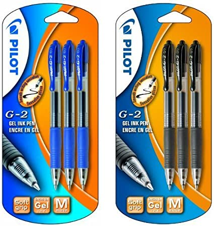 Pilot - Pack 3 unidades bolígrafo roller retractable azul + 3 ...