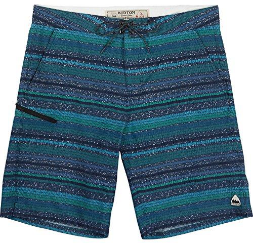 Burton Men's Moxie Shorts, Porcelain Green Blanket Stripe, 28