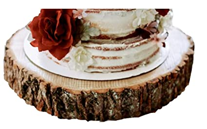 Wood Slab Cake Stand Ice Cream Cup Cakes