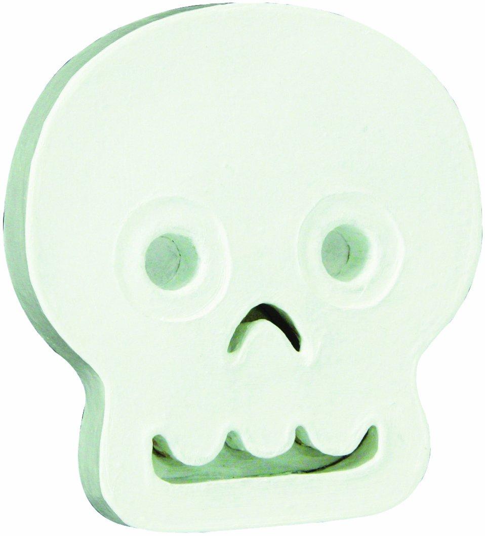 Decopatch Mache Skull Symbol White AC294O