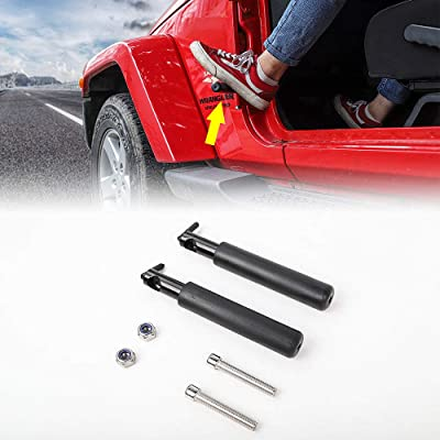 JeCar Foot Pegs Rests Pedal Foot Rest Kick Panel Made of Solid Steel for 2007-2020 Jeep Wrangler Jk JKU JL 1 Pair: Automotive