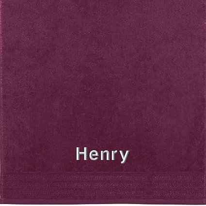 Erwin Müller Toalla con nombres Henry bordado, frutas del bosque, 50 x 100 cm