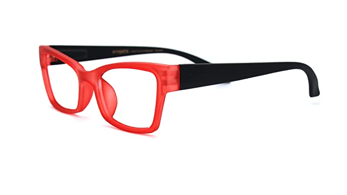 3ff2543492 Eyejets Venice Cateye Designer Reading Glasses (RED SOFT TOUCH FRAME  BLACK  SOFT TOUCH TEMPLES