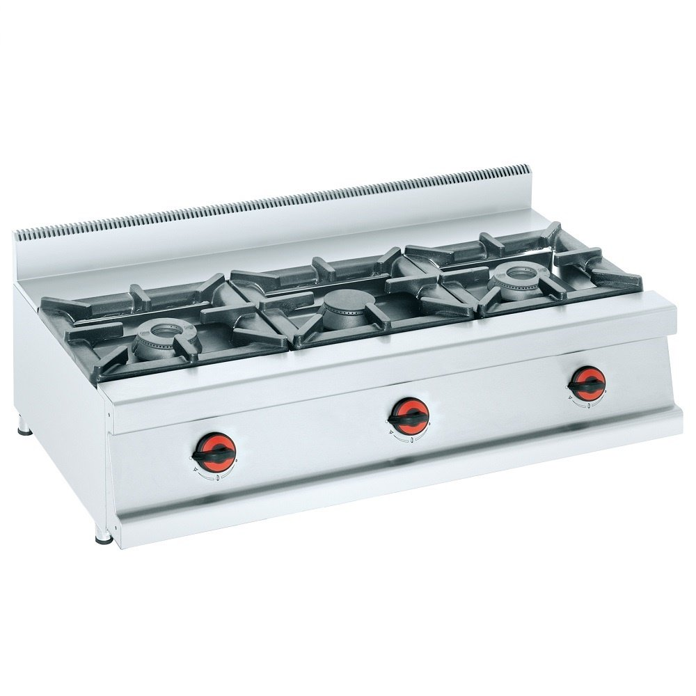 Macfrin S3 Cocina de Sobremesa a Gas 3 Fuegos 24.5 Kw ...