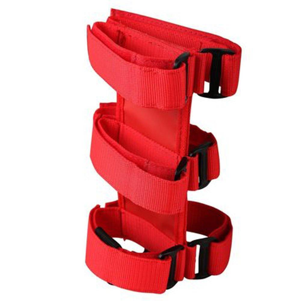 KAMSOL Hook and Loop Stick SUV Jeep Roll Bar Car Fire Extinguisher Holder Bandage with Adjustable Straps (Black)