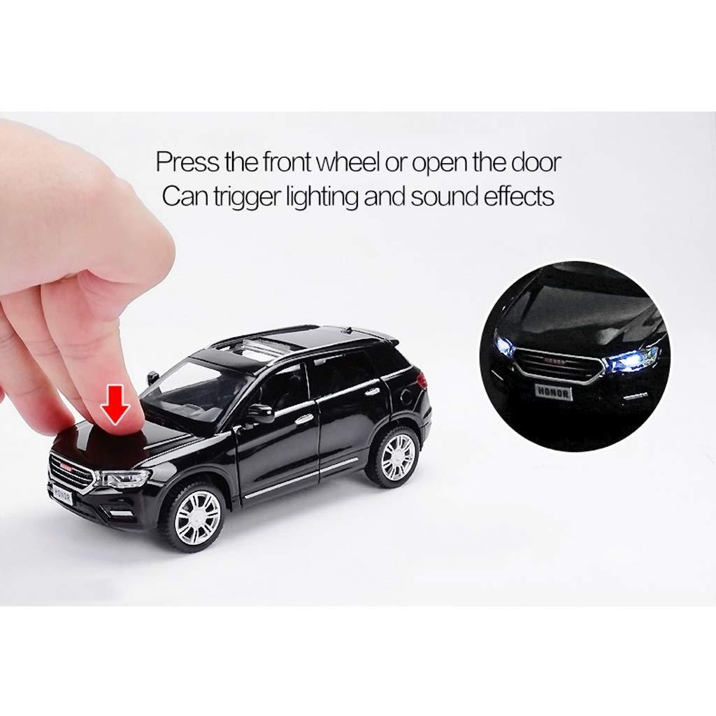 Auto-Modell-1: 32HAVAL H6 Offroad SUV Simulation Legierung Druckguss-Spielzeug Ornamente Sports Car Collection Schmuck 15x7.5x5.5CM (Farbe: rot) WKY (Color : Black) Black