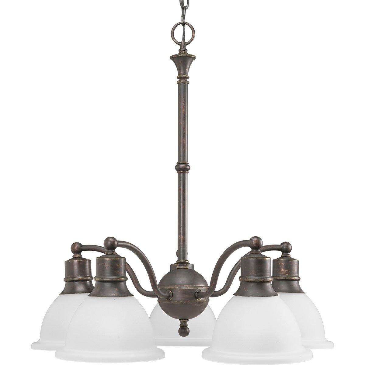 progress lighting p4281 20 5 light reversible chandelier antique