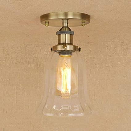 Amazon.com: Ganeep Retro Vintage Glass Iron Ceiling Lamps ...