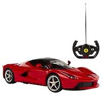 COLORBABY Rastar 41120 - Macchinina radiocomandata, Ferrari LaFerrari, Scala 1:14, Rosso