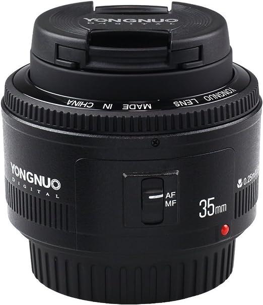 YONGNUO YN35mm F2 de la lente 1: 2 AF / MF gran angular fijo ...