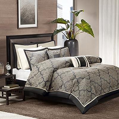 Medina 8 Piece Jacquard Comforter Set -  - comforter-sets, bedroom-sheets-comforters, bedroom - 61fHd1ckAxL. SS400  -