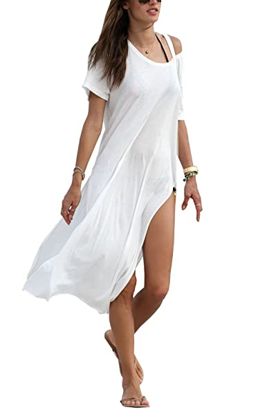Amazon.com  Qin.Orianna Women s Baggy Swimwear Bikini Cover-ups Beach  Dress Night T-Shirt  Clothing 8ad8d2ca1