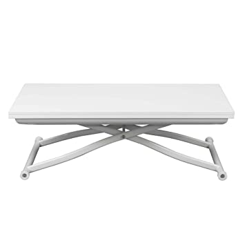 923d881f7a60f4 Up down 2 Table basse transformable Blanc - Alinea 120.0x75.0x120.0 ...