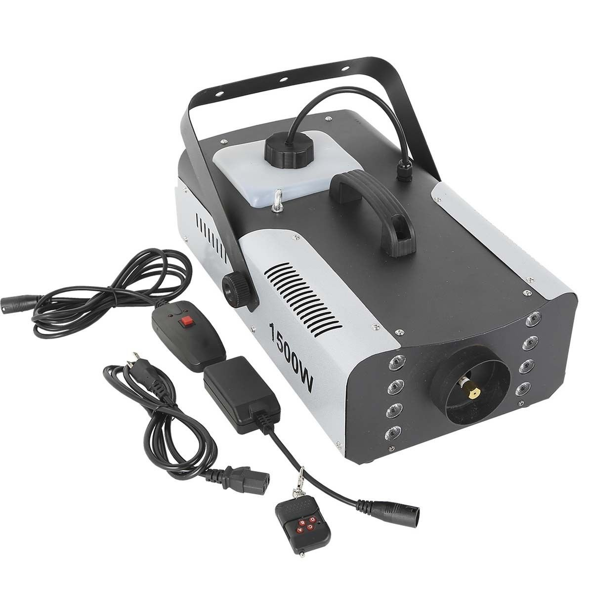 Tengchang 1500W Fog Machine RGB 3in1 8 LED DJ Stage Smoke Maker Wireless Remote (Style F)