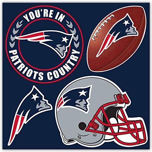 NFL New England Patriots 4-Piece Magnet Set, Navy,