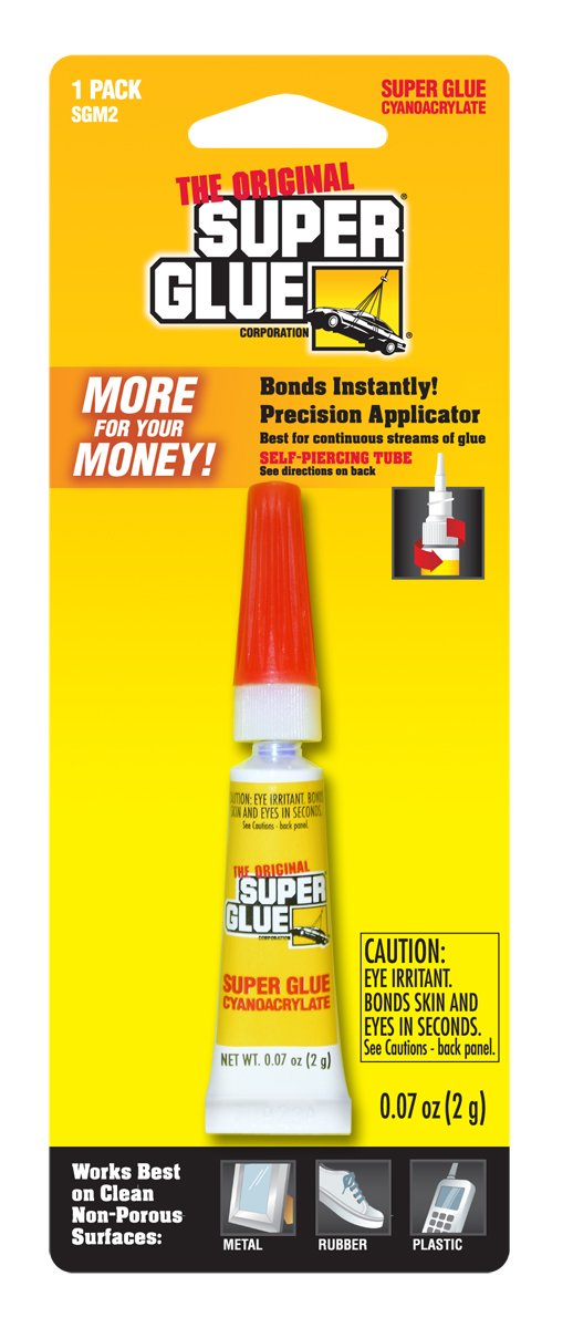 Super Glue Super Glue SGM2-12 Tube, 2-Gram, 12-Pack(Pack of 12) by Super Glue (Image #1)