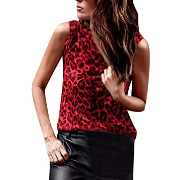 135e3dde8 Amazon.com  Women Vest With Sexy Leopard Print Tank Tops Svelte Cotton  T-Shirts Sleeveless Tops For Ladies Toponly  Appliances