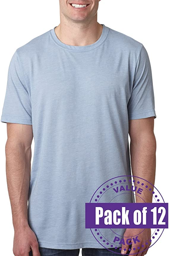 Next Level Mens Poly//Cotton Tee 6200-Stonewashed Denim 9 Pack