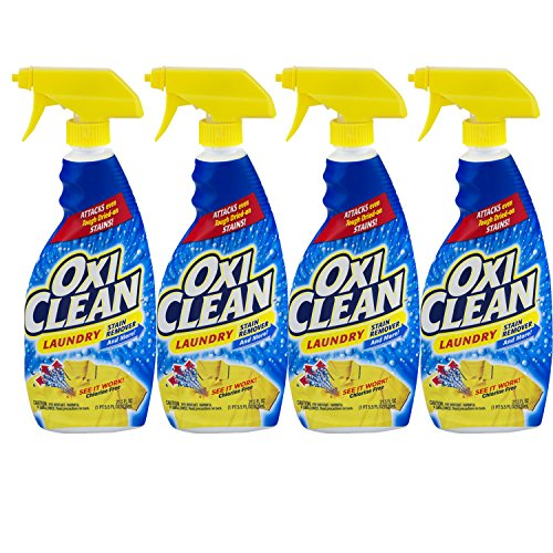 OxiClean Liquid Stain Remover, 21.5 oz, 4-Pack by Oxiclean