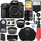 Nikon D7500 20.9MP DX-Format Digital SLR Camera + Sigma 70-300mm Macro Telephoto Lens Tascam Video Creator Bundle (Sigma 18-250mm Accessory Kit)
