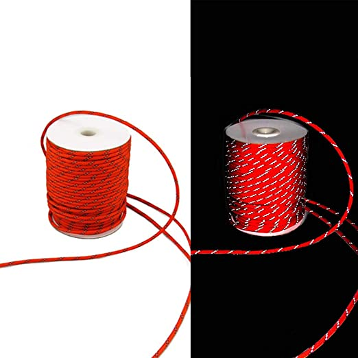 20m//50m Outdoor Camping Reflective Guy Line Tent Rope Canopies Cord Accessories