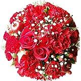ありがとうを伝える・高品質フラワーギフト (①赤 AGT (プライムお急ぎ便)) 花金・高岡本店 フラワーアレンジメント ギフト 誕生日 結婚記念日 バラ お祝い 還暦 母の日 花 花束 プレゼント クリスマス バレンタイン