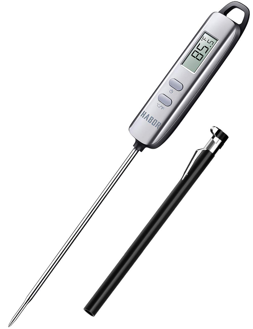 Habor Instant Read Digital Cooking, Candy Thermometer with Super Long Food Probe for Kitchen BBQ Grill Smoker Meat Oil Milk